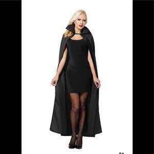 Black cape vampire men's women's Halloween costume